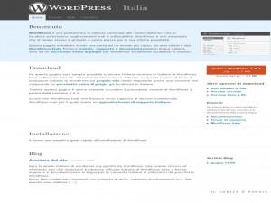 Il sito italiano di wordpress