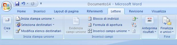 Word unione stampa