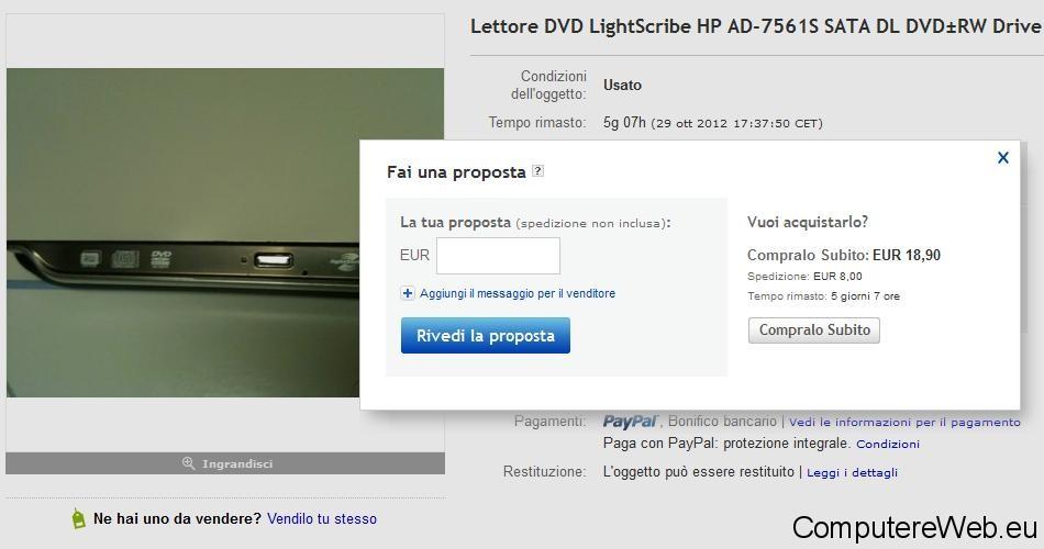 ebay trattare sul prezzo
