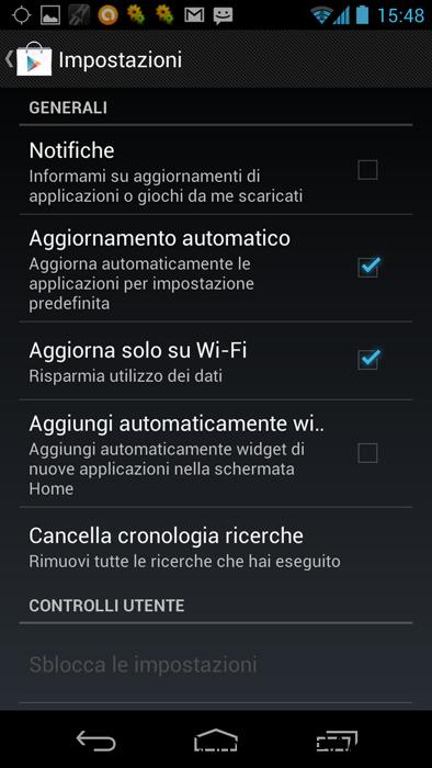 android-impostazioni