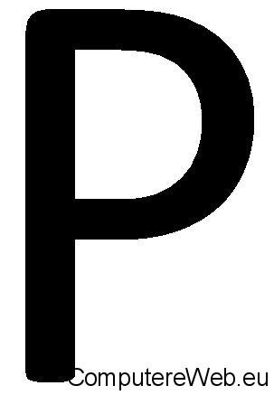 contrassegno p per la guida con foglio rosa