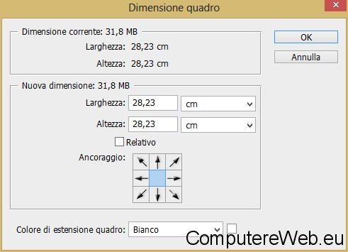 photoshop-dimensione-quadro
