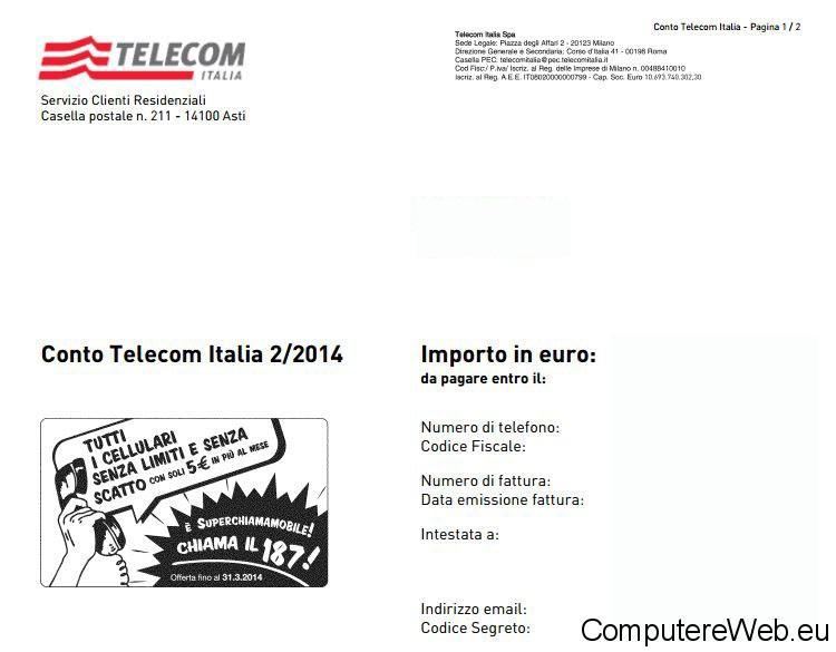 pdf fattura telecom