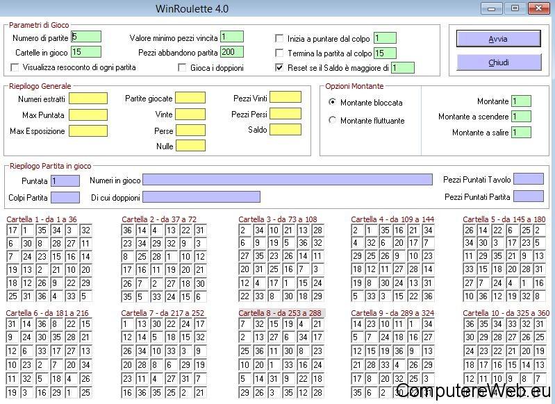 Programma per statistiche roulette casino de jonzac 17