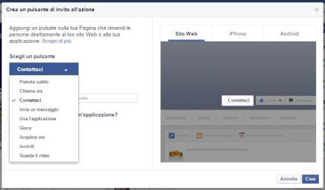 """Come Funziona """"Crea Invito all'Azione"""" su Pagina Facebook"""