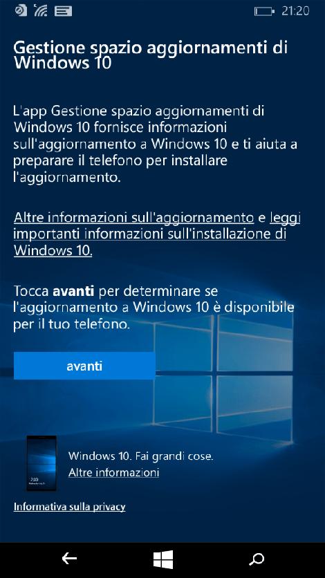 Come Fare Aggiornamento a Windows 10 Mobile sui Vecchi Lumia
