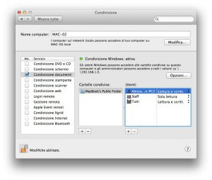 Condividere File tra Mac e Windows