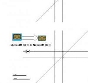 Tagliare Micro Sim in Nano Sim