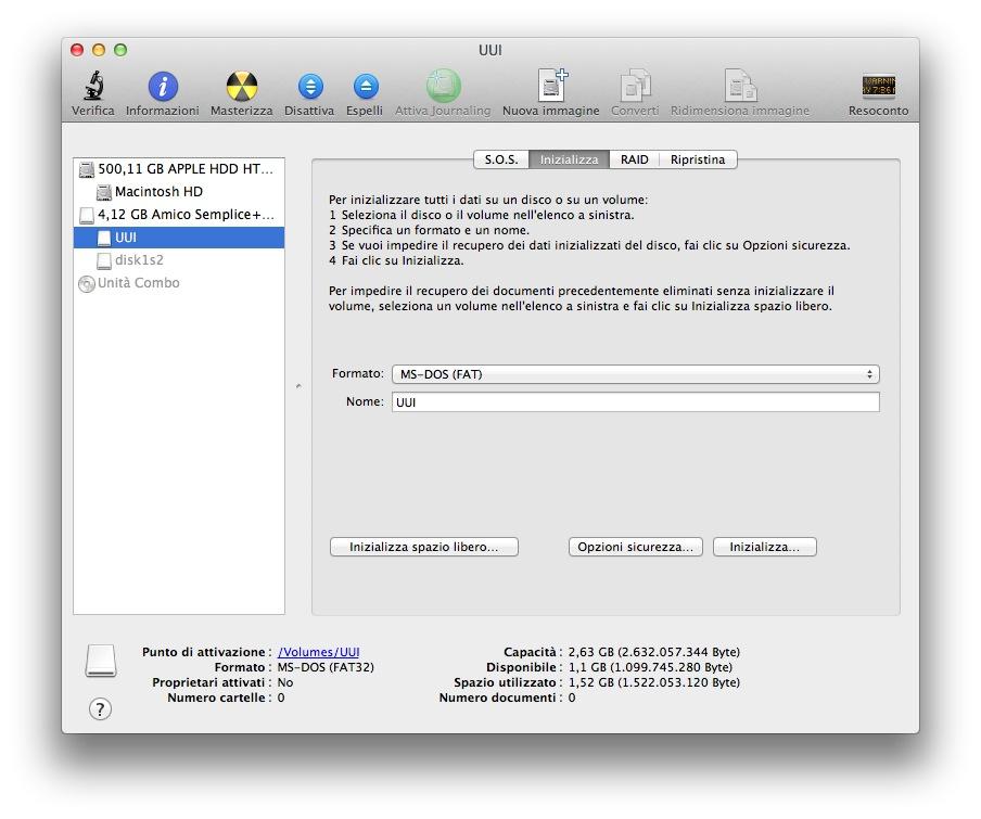 Come Formattare Pen Drive su MAC OS X