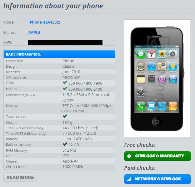 Dove Trovare Codice IMEI iPhone