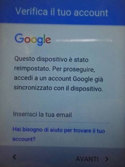 Come Superare Verifica Account Google su Smartphone Android
