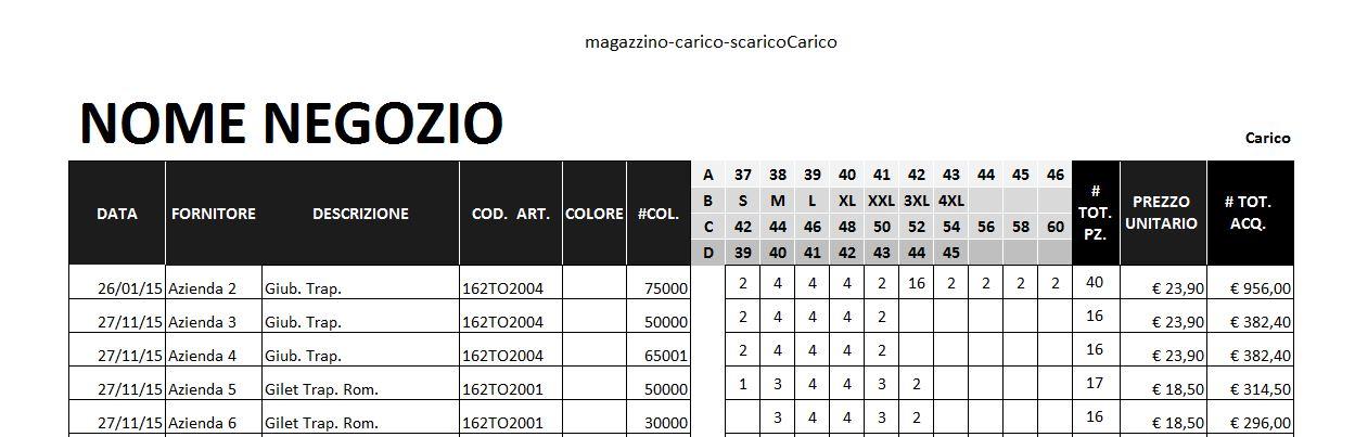 Excel L22 Gestione Magazzino Carico E Scarico Merce