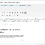Come ripristinare editor di testo classico su WordPress 5.0