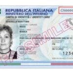 Dove si trova il numero della carta d'identità elettronica?